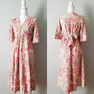 Young Edwardian | VTG 60s/70s Floral Peasant Dress